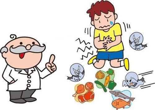 trẻ đau bụng do ngộ độc thực phẩm