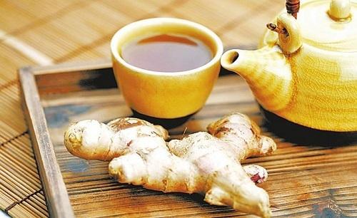 trà gừng giảm nhanh chứng ợ hơi