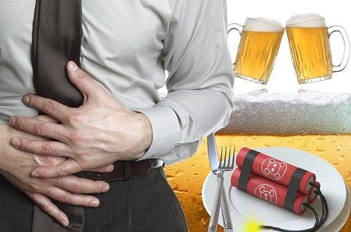 Đau bụng sau khi uống rượu