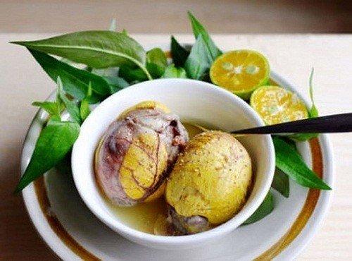 dinh dưỡng từ trứng vịt lộn